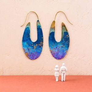 Anthropologie Sibilia Mercat Statement Earrings